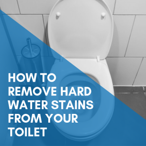 How to remove hard water stains in a toilet bowl