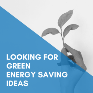 Looking for Green Energy Saving Ideas?