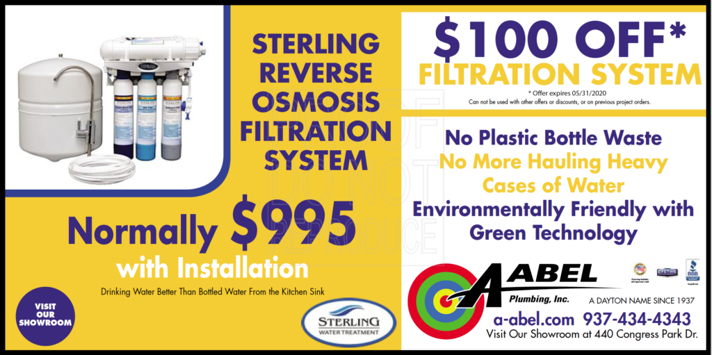 a-abel coupon for $100 off filtration system valid through may 31, 2020