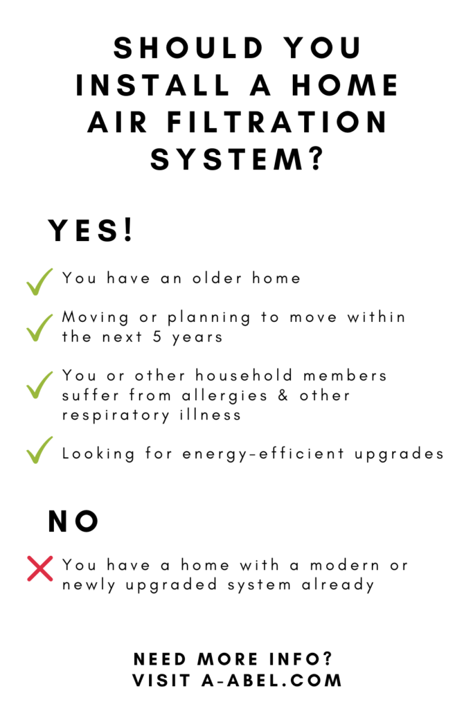 home air filtration questionnaire