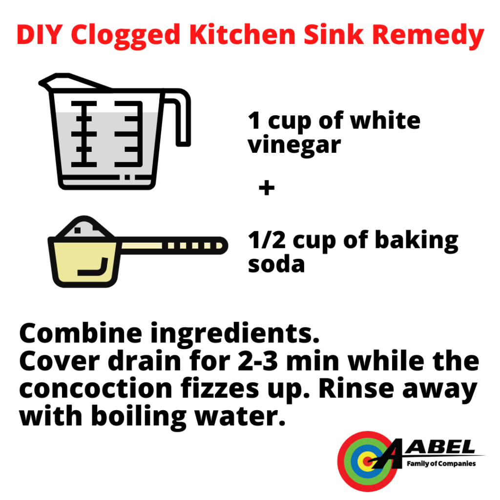 clogged kitchen sink remedy
